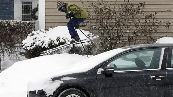 Portland, Maine got ___ inches of snow.