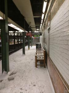 It even snowed inside subway stations.